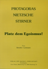 Protagoras, Nietzsche, Stirner