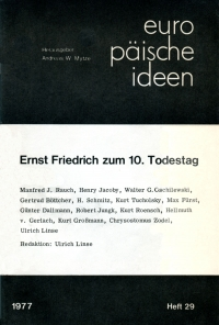 Ernst Friedrich zum 10. Todestag