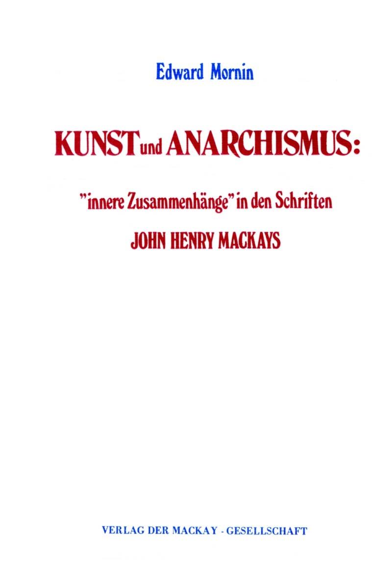 Kunst und Anarchismus