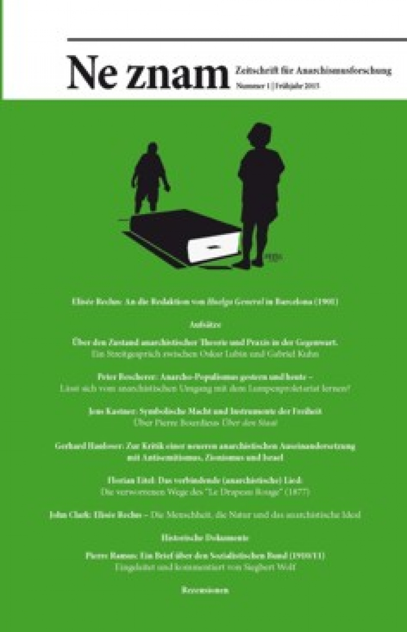 Ne znam - Zeitschrift für Anarchismusforschung, Nr. 01