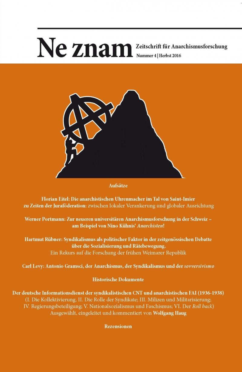 Ne znam - Zeitschrift für Anarchismusforschung, Nr. 04
