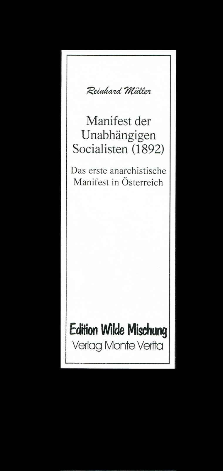 Das Manifest der Unabhängigen Sozialisten (1892)