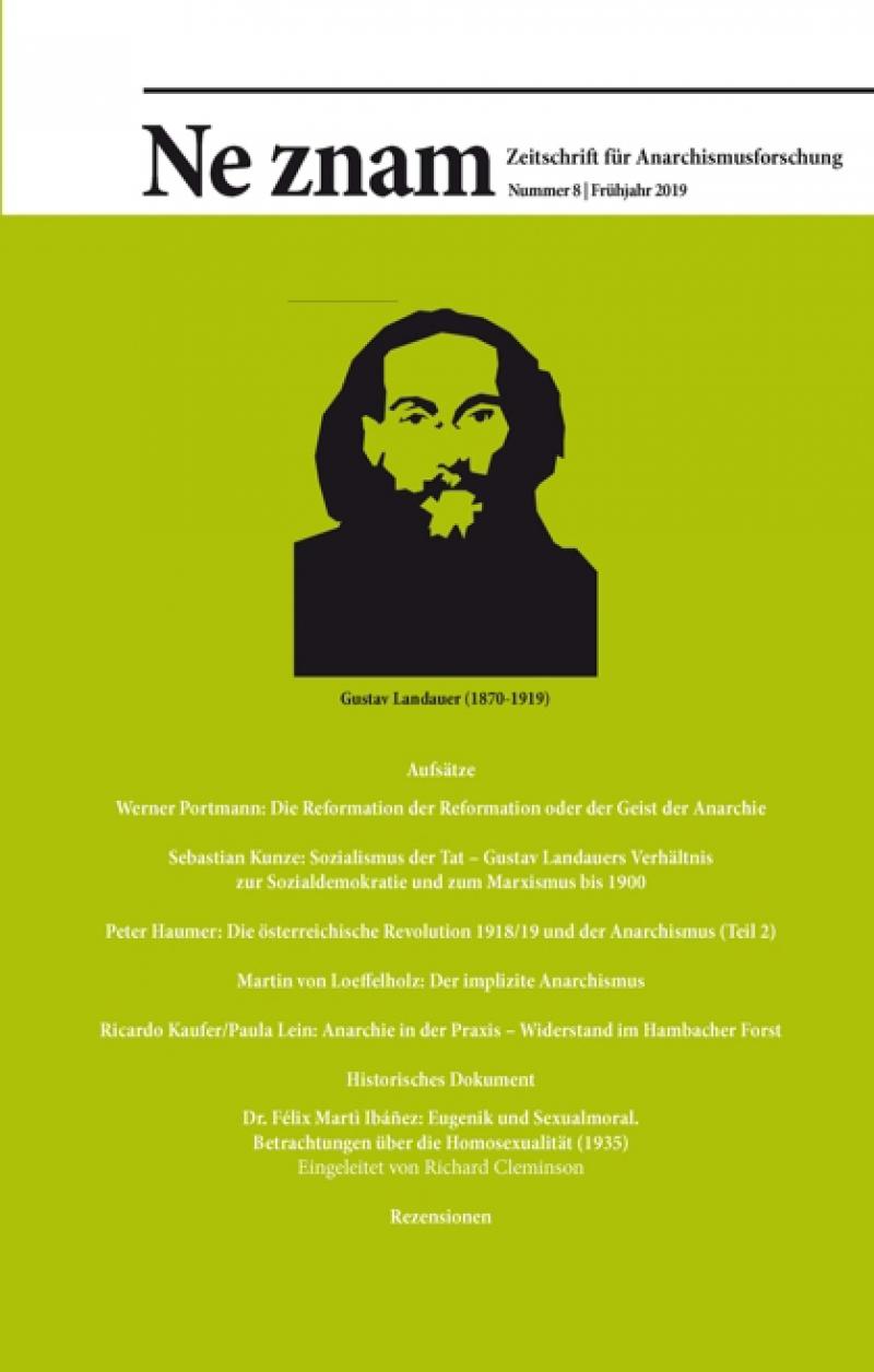 Ne znam - Zeitschrift für Anarchismusforschung, Nr. 08