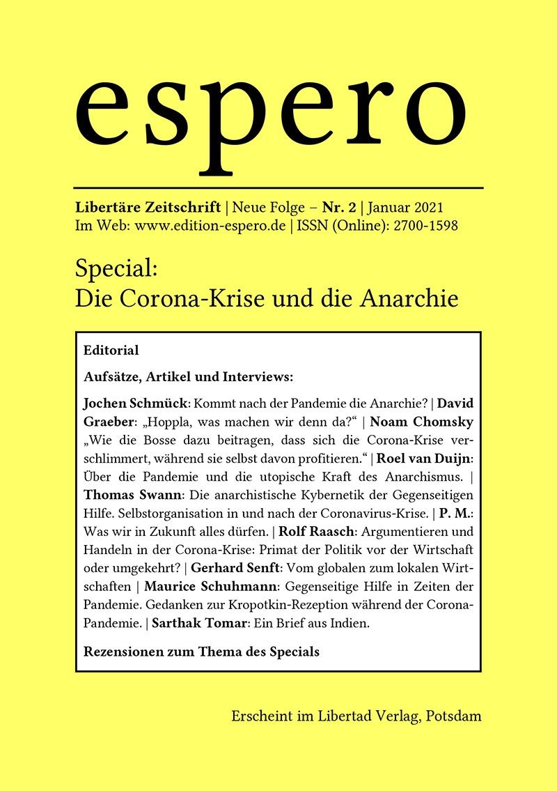 espero - Nr. 2 - Special: Die Corona-Krise und die Anarchie