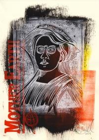 Emma Goldman - Farblinolschnitt 2/4