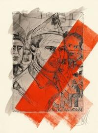 Buenaventura Durruti - Radierung 2/2