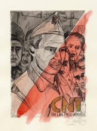 Buenaventura Durruti - Radierung 1/2