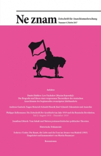 Ne znam - Zeitschrift für Anarchismusforschung, Nr. 06