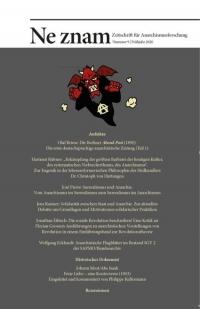 Ne znam - Zeitschrift für Anarchismusforschung, Nr. 09